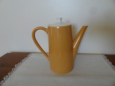 Vintage Mid Century Coffee Pot Tea Lid Light Burnt Orange Sienna Harmony House