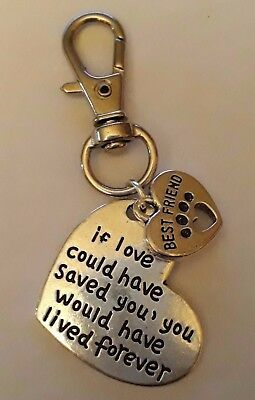 Keyring Handbag Charm If Love Could Have Saved You Best Friend Pet Memorial Gift
