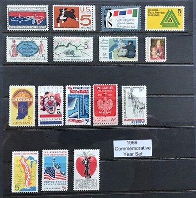 1966 US Commemorative Year Set (Complete) #1306-1322 MNH  FREE SHIPPING