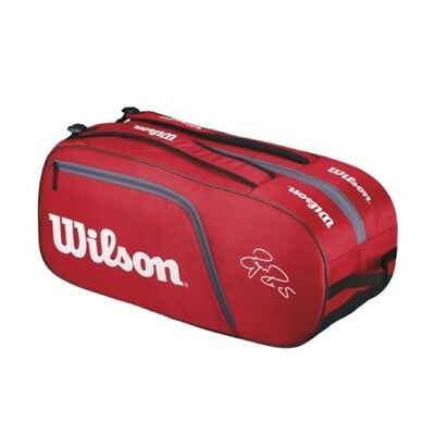 WilsonFederer Team 6-er Bag rot
