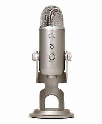 Yeti 3 Capsule USB Microphone Platinum BLUE Microphones with Stylish Stand Mount