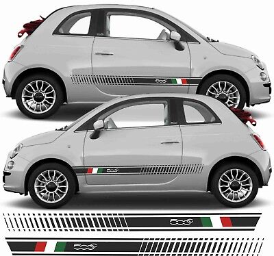 Fiat 500C 500 italian side Stripes quality 10 year Hexis vinyls any colours