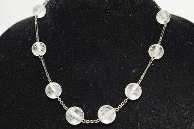 Qing Chinese Carved Crystal Bead Necklace
