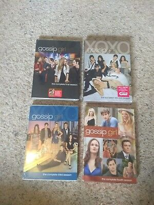 Gossip Girl (2007-2012) Seasons 1, 2, 3, & 4 (DVD), New