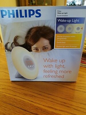 Philips Sleep Wake-up Light  Sunr Simu. alarm clock Brand New, White HF3500/60