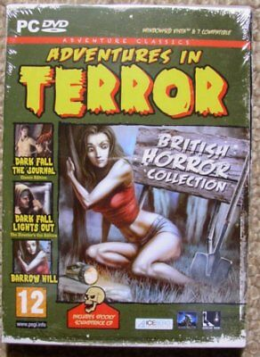 Adventures in Terror - British Horror Collection New Sealed - PC Adventure Games