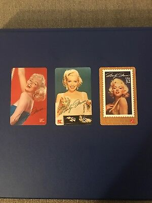MARILYN MONROE KMART CALLING CARD LOT OF 3 Different 1995
