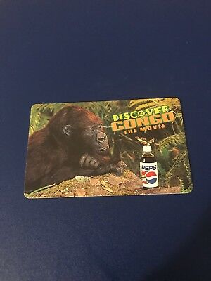 1995 Discover Congo The Movie Pepsi 5 Minutes Free Promo Phone Card