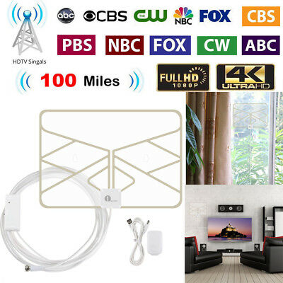 1Byone HD TV Antenna 1080P HDTV Digital 50 Miles Indoor with Amplifier Skywire