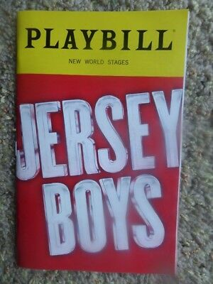 JERSEY BOYS Playbill  The Story of Frankie Valli & the Four Seasons New