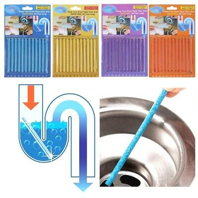 12 Sani Sticks Soap Keep Drain Pipes Clean Pack Bar Odor Free Cleaning Products