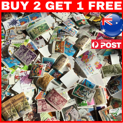 800 AUSTRALIAN STAMPS OFF AND ON PAPER 45c 50c 60c 65c 70c $1 $5 1c 5c