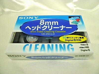 SONY Official Hi8 Digital 8/8 mm Video Head Cleaner Japan Import
