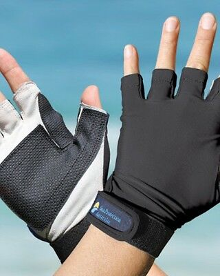 Sport Gloves UPF50+ BLACK Sun Protection Kayaking Fishing Driving