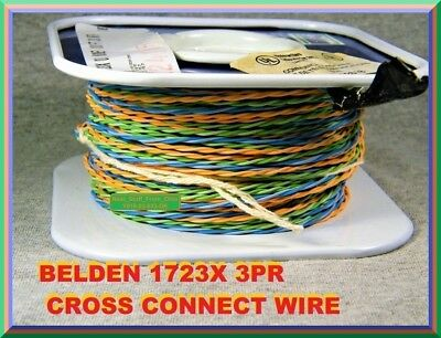 Belden 1723X: 3Pr, 24Awg, 100 Foot Spool, Telco / Data Cross Connect Wire, New