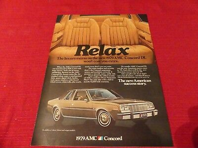Vintage 1979 AMC Concord car print ad  -  Great to frame!
