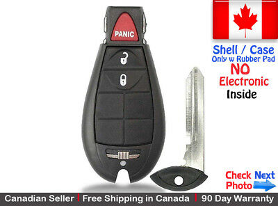 1 New Replacement Remote Key Fob For Dodge RAM & Jeep Cherokee Shell / Case