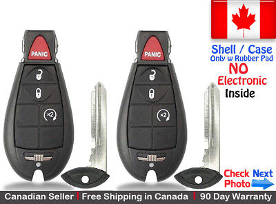 2 New Replacement Remote Key Fob For Dodge RAM & Jeep Cherokee Shell / Case
