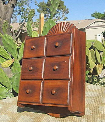 Old Pine Spice Cabinet Original Finish Antique Vintage Farm Country Kitchen
