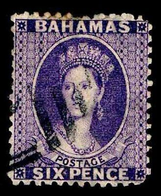 Bahamas Used #14 Early Definitive Issue Of 1862 - Fine - Cv$85.00 (Esp#2915)