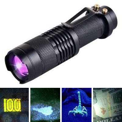 UV Ultra Violet LED Flashlight Blacklight 395/365 nM Inspection Lamp Torch New