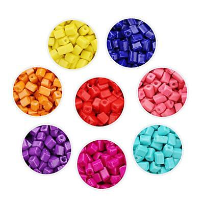 400 PCS Crackle Glass Beads Mixed Colours For Bracelets Jewellery Making Crafts