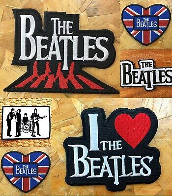 The BEATLES Iron On Patch Rock N Roll Band Classic Embroidered Sew cool Music