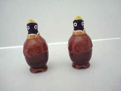 Vintage Pie Bird Steam Vent Ceramic Porcelain Brown Black Yellow Hungry Birds