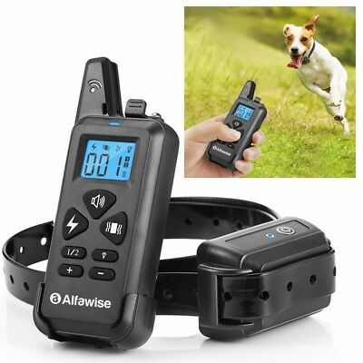Pet Dog Puppy Shock Training Collar Rechargeable Waterproof 1000ft 300M Remote