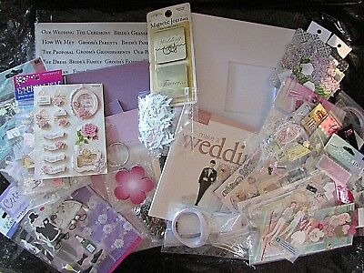 Wedding Scrapbook Album, Embellishments, Paper + more