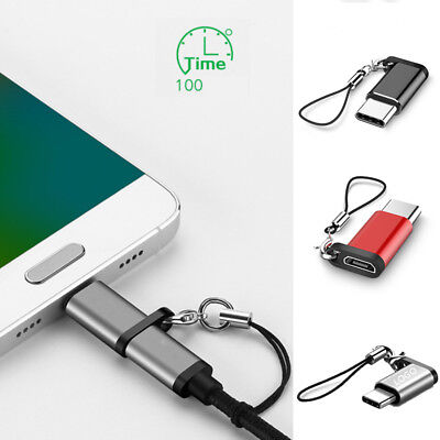 Type C Keychain Adapter Micro USB to USB-C Converter For Samsung S9 S8 LG Huawei