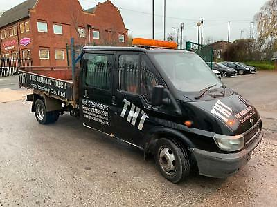 Ford Transit 2.4TDDI 90t350 crew cab tipper starts drives spares or repair