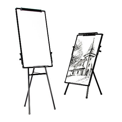 Adjustable Tripod Whiteboard Magnetic Standing Flip chart Easel Stationery UK