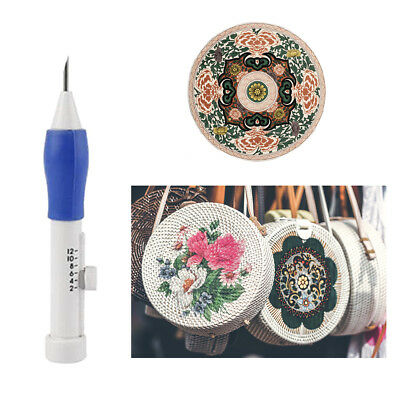 Newest DIY Magic Embroidery Pen Punch Needle Kits 1.3mm 1.6mm 2.2mm Tool AU