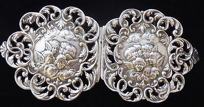 Reynolds Angels 1897 Hallmarked Solid Silver Nurses Belt Buckle Nathan & Hayes