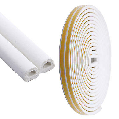 Rubber Seal Strip Self-Adhesive Draught Excluder Door Insulation Durable 10/20M