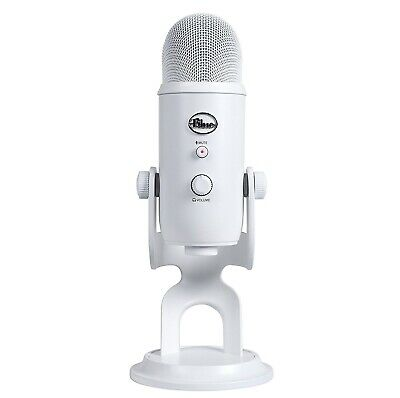 Yeti 3 Capsule Microphone White USB BLUE Microphones with Stylish Stand Mount