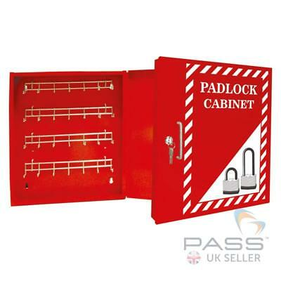 Lockout Tagout Padlock Cabinet for 42 Locks - Wall Mountable, Sturdy, Steel