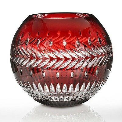 NEW Waterford Crystal Fleurology Meg Ruby Rose Bowl - 30cm RRP$2399.00