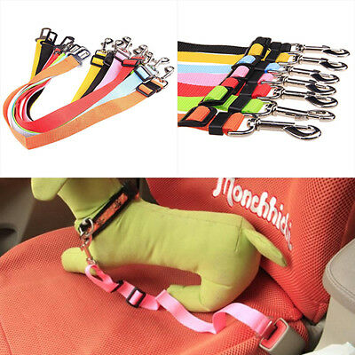 UK_ Adjustable Car Safety Seat Belt Harness Restraint Lead Travel Clip Pet Dog t