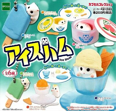 Epoch Capsule Toy Ice ham complete 6 set hamster Figures Gashapon From Japan F/S