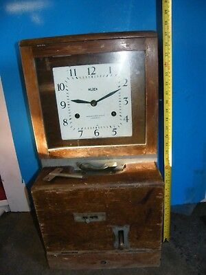 COMPACT ENGLISH BLICK CLOCKING IN CLOCK TIME RECORDER CLOCK IN 20 Mins M1 Jct 13
