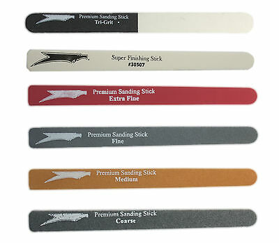 Squadron Tools Sanding Sticks Coarse, Medium, Fine, Tri, Finishing Polishing