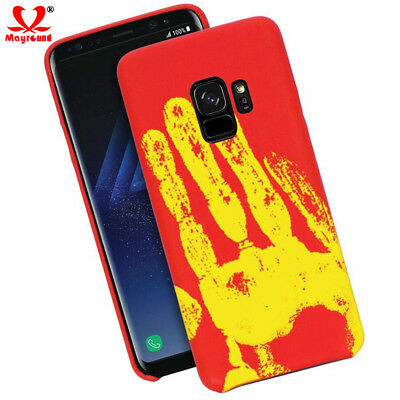 Discoloration Heat Thermal Sensor PC Case Cover For Samsung Galaxy A8 A6 S9 Plus