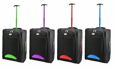 Cabin Bag Approved Flight Trolley Suitcase Luggage Case Ryanair Easyjet Hm06