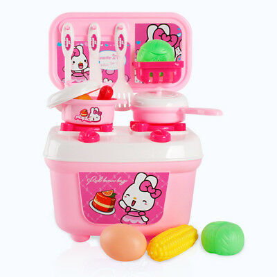 Prettyia Box Style Oven Cookware Toy Kid Kitchen Cooking Food Pretend 13pcs