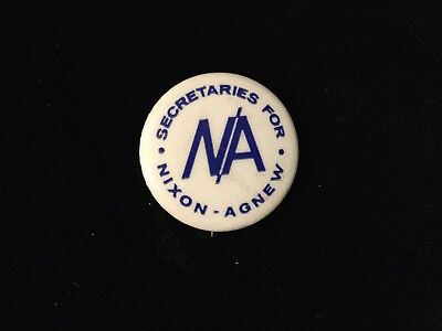 Secretaries For Nixon-Agnew 1 Inch Button Box 9