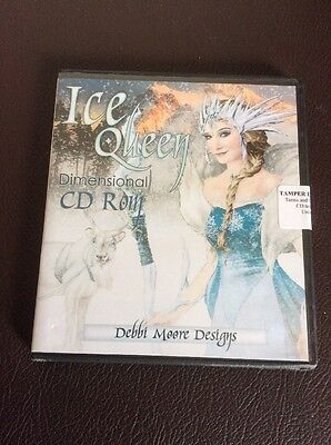 Debbi Moore Designs -  Ice Queen CD Rom  Dimensional Craft Paper Card Making