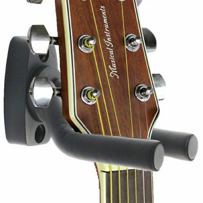 Guitar/Bass Hanger Hook Holder Wall Mount Display Instrument Anchor Stand Racks