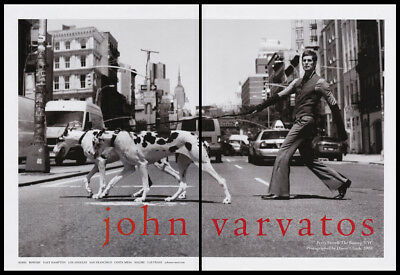 Perry Farrell 2-page clipping 2008 ad for John Varvatos